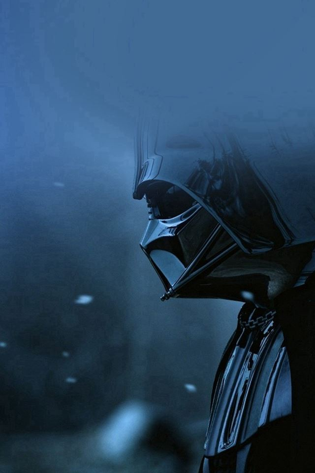 Starwars Darth Vader Art Film Blue iPhone 4s wallpaper