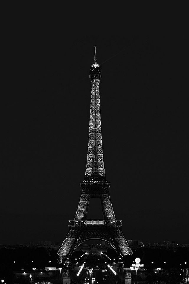 Paris Night France City Dark Eiffel Tower iPhone 4s wallpaper