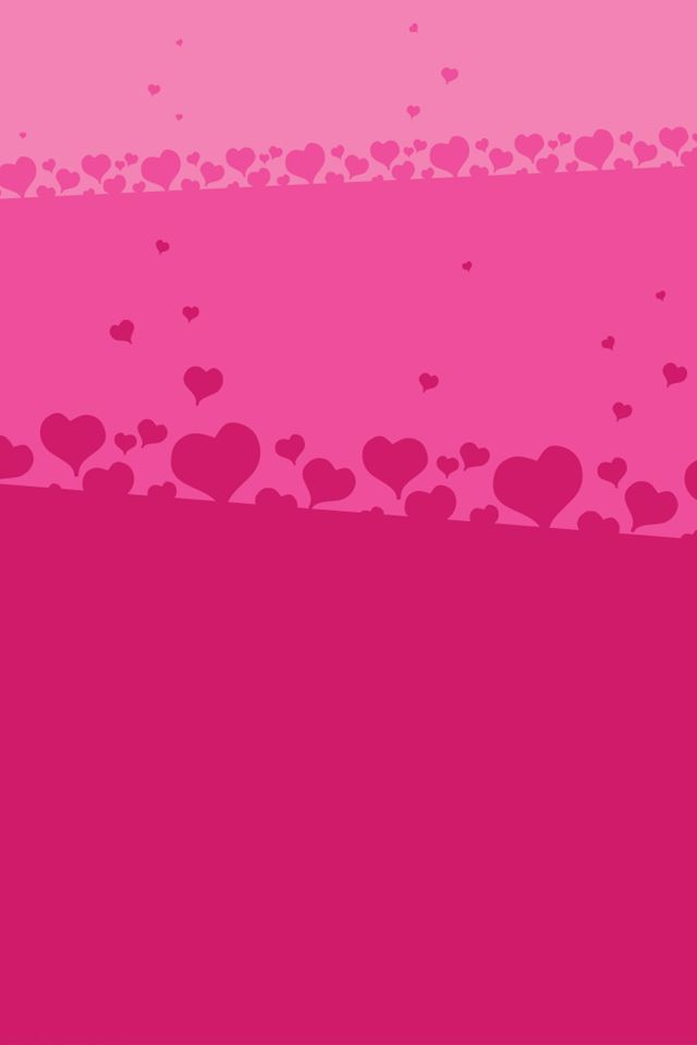 Pink Hearts iPhone 4s wallpaper
