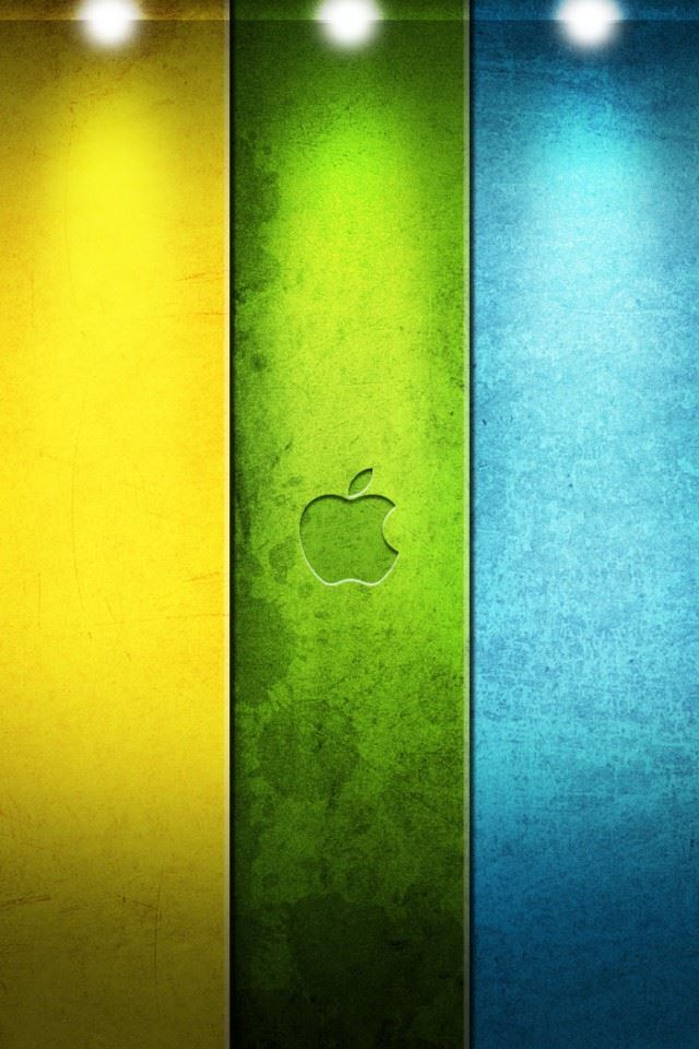 Color Apple Logo iPhone 4s wallpaper
