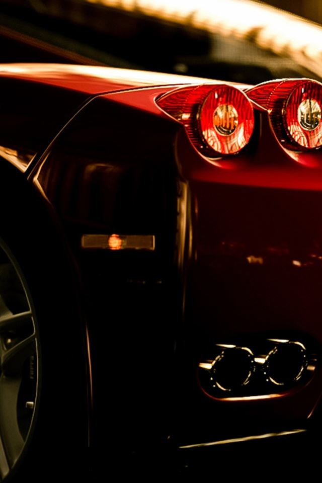 Ferrari Rear Lights View iPhone 4s wallpaper