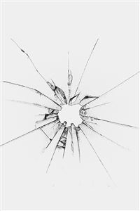 Apple Llogo Window Broken Glass White iPhone 4s wallpaper