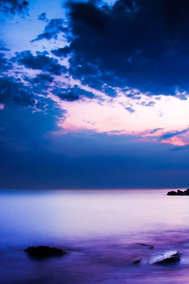 Purple Sunset Iphone 4s Wallpapers Free Download