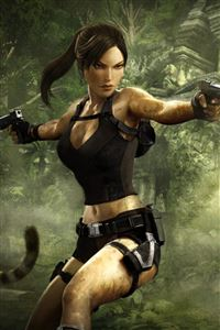Lara Croft iPhone 4s wallpaper