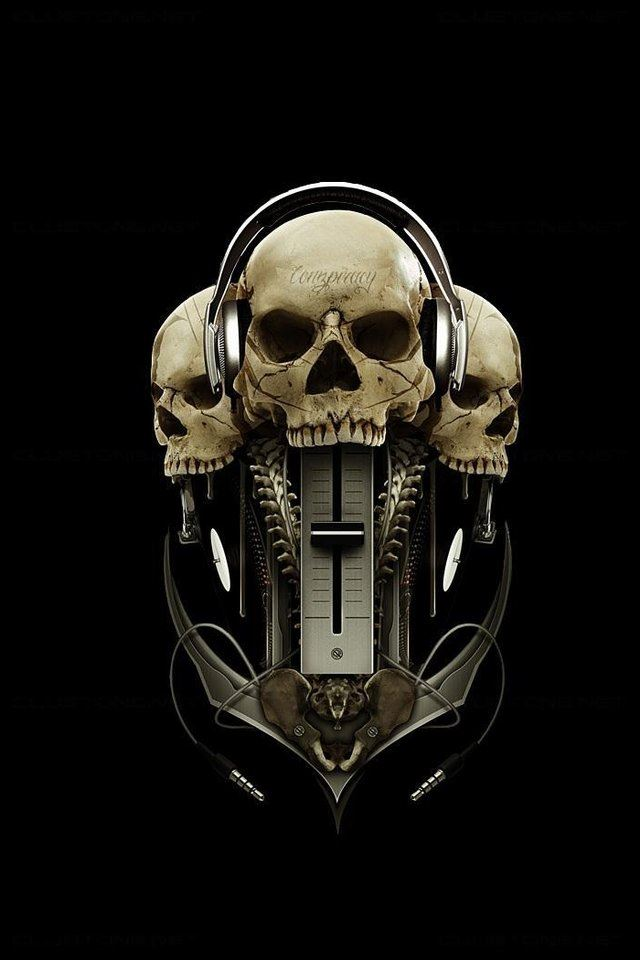 Skull Mixer iPhone 4s wallpaper
