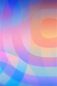 Colorful Rainbow Unlock Circle Pattern iPhone 4s wallpaper