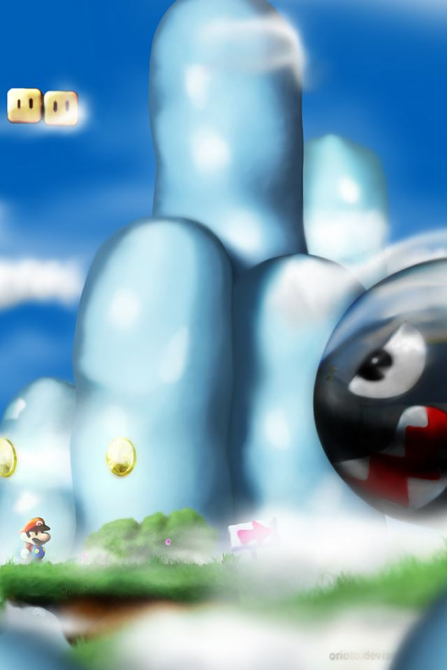 Super Mario iPhone 4s wallpaper