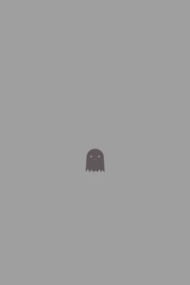 Cute Ghost Art Character Illust Minimal Simple iPhone 4s wallpaper