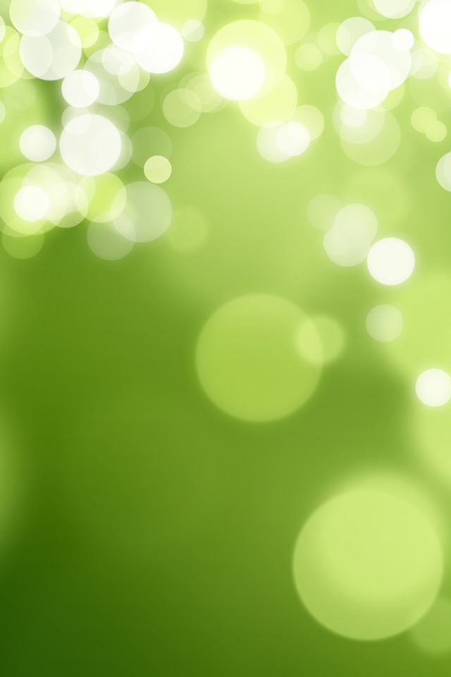 Green Bokeh Spots iPhone 4s wallpaper