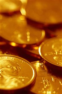 Gold Coins iPhone 4s wallpaper