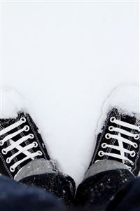 Snowy Shoes iPhone 4s wallpaper