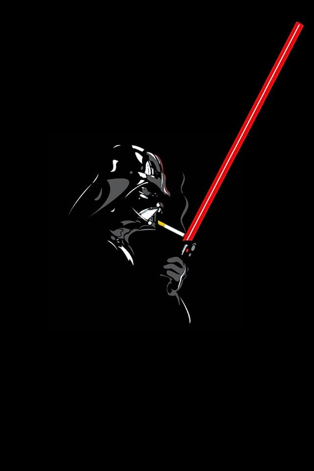 Darth Vader Smoke Break iPhone 4s wallpaper