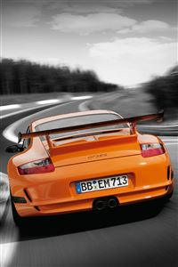 Orange Porsche 911 Turbo iPhone 4s wallpaper