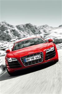 Red Audi R8 iPhone 4s wallpaper