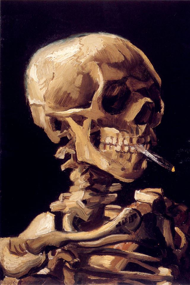 Skeleton Painting iPhone 4s wallpaper
