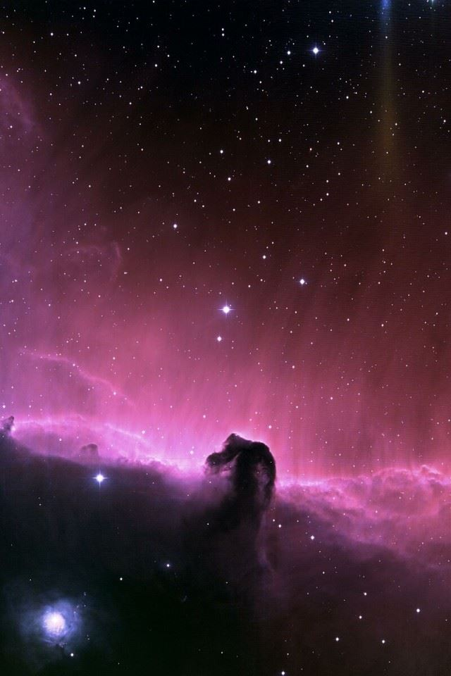 Purple Nebula iPhone 4s wallpaper