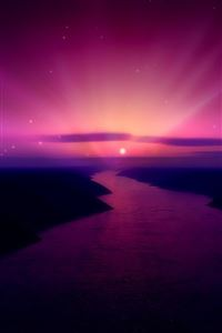 Purple Sunset iPhone 4s wallpaper