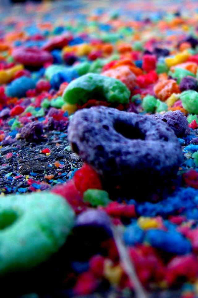 Colorful Cheerios iPhone 4s wallpaper