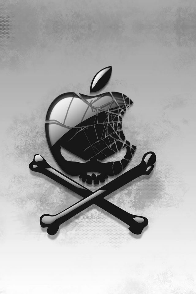 Skull Apple Logo iPhone 4s wallpaper