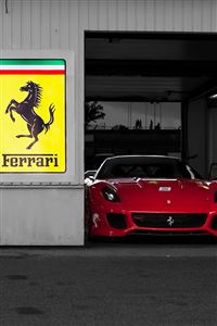 Ferrari Garage iPhone 4s wallpaper