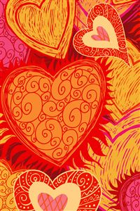 Red Hearts iPhone 4s wallpaper