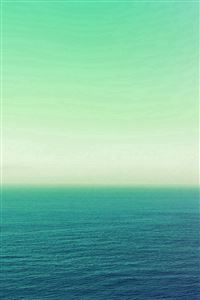 Calm Sea Green Ocean Water Summer Day Nature iPhone 4s wallpaper