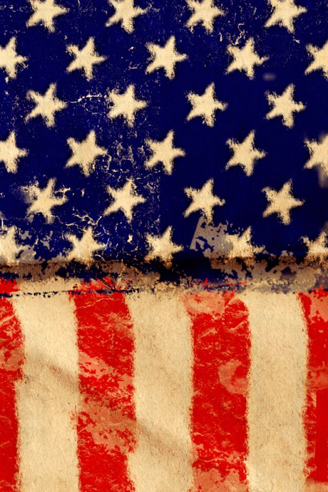 American Grunge Flag iPhone 4s wallpaper