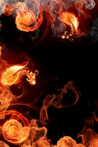 Fire Plants iPhone 4s wallpaper