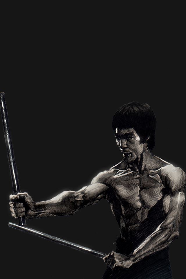 Bruce Lee iPhone 4s wallpaper