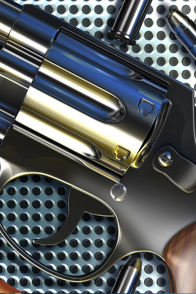 Pistol Chrome iPhone 4s wallpaper