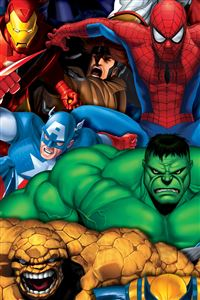 Marvel Heroes iPhone 4s wallpaper