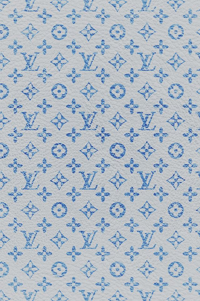 Louis Vuitton blue pattern art iPhone 4s wallpaper