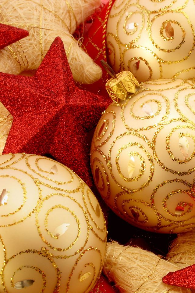 Christmas Ornaments iPhone 4s wallpaper