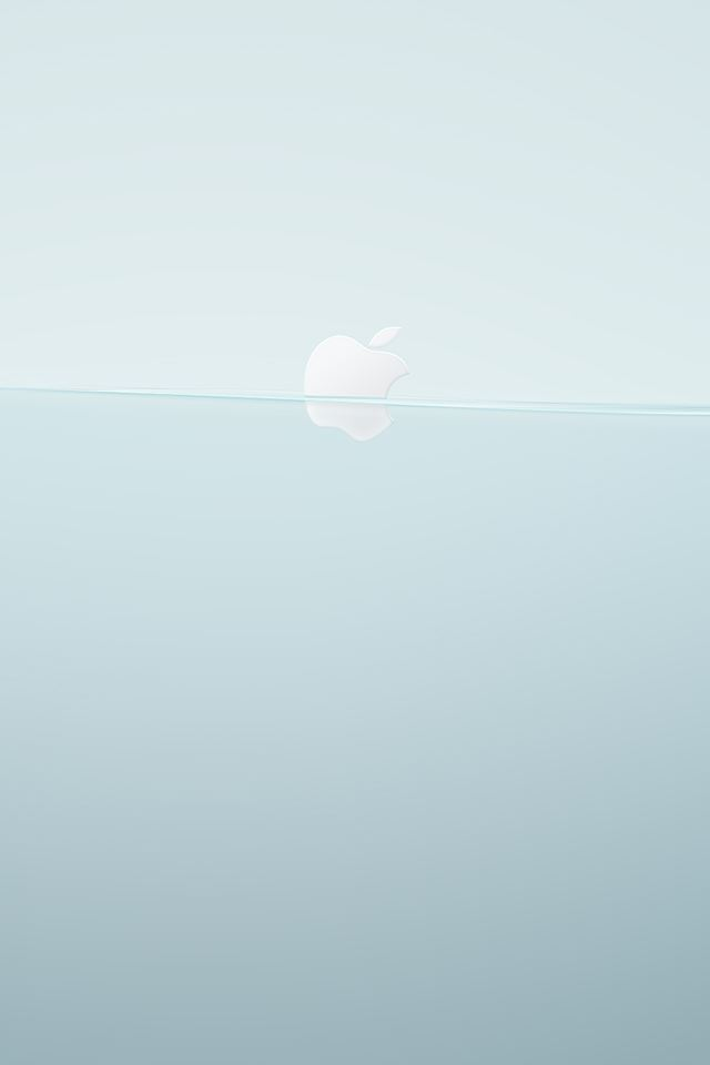 Floating Apple Logo iPhone 4s wallpaper