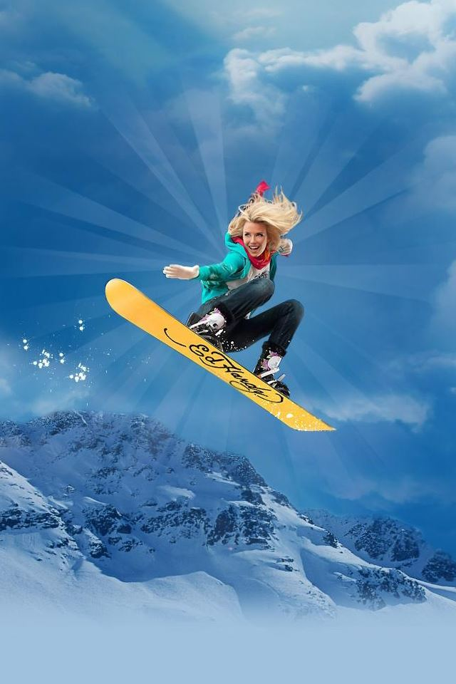 Ed Hardy Snowboarding Iphone 4s Wallpapers Free Download