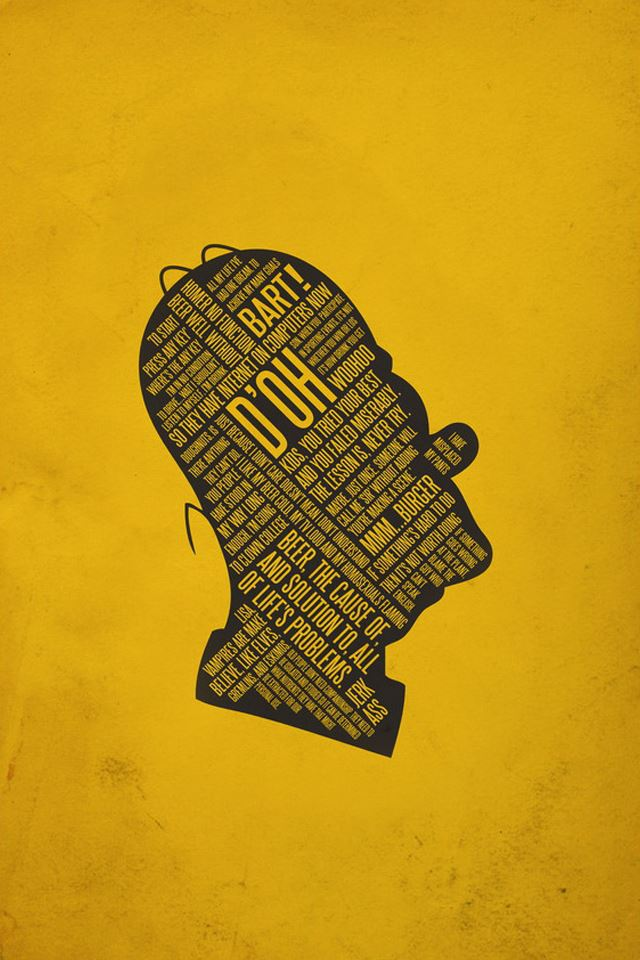 Text Simpson iPhone 4s wallpaper