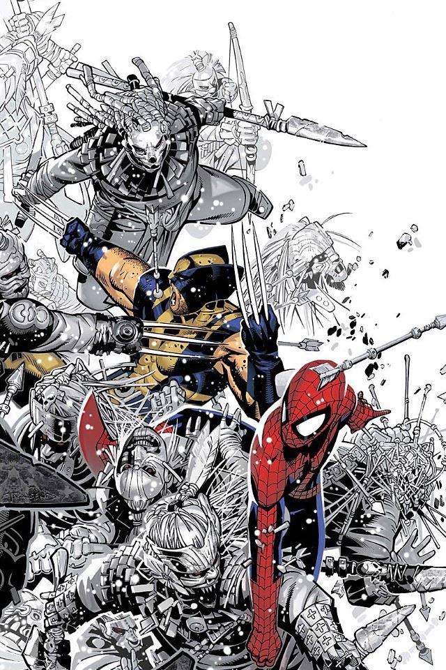 Spiderman x Xmen iPhone 4s wallpaper