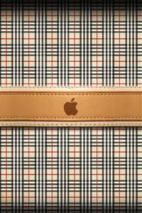 Burberry Apple Logo iPhone 4s wallpaper