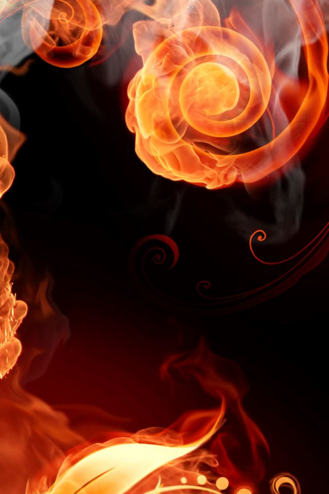 Fire Swirls iPhone 4s wallpaper