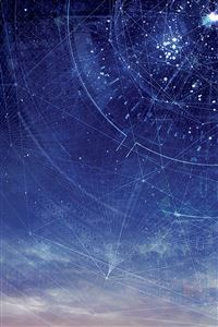 Digital space starry sky iPhone 4s wallpaper