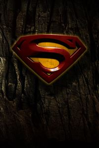 Grunge Superman Logo iPhone 4s wallpaper