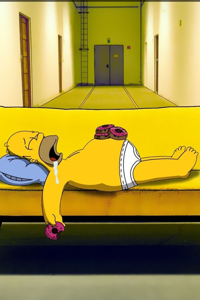 Drool Simpson iPhone 4s wallpaper