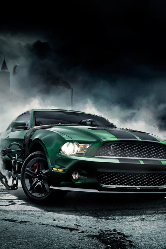 Mustang Shelby iPhone 4s wallpaper