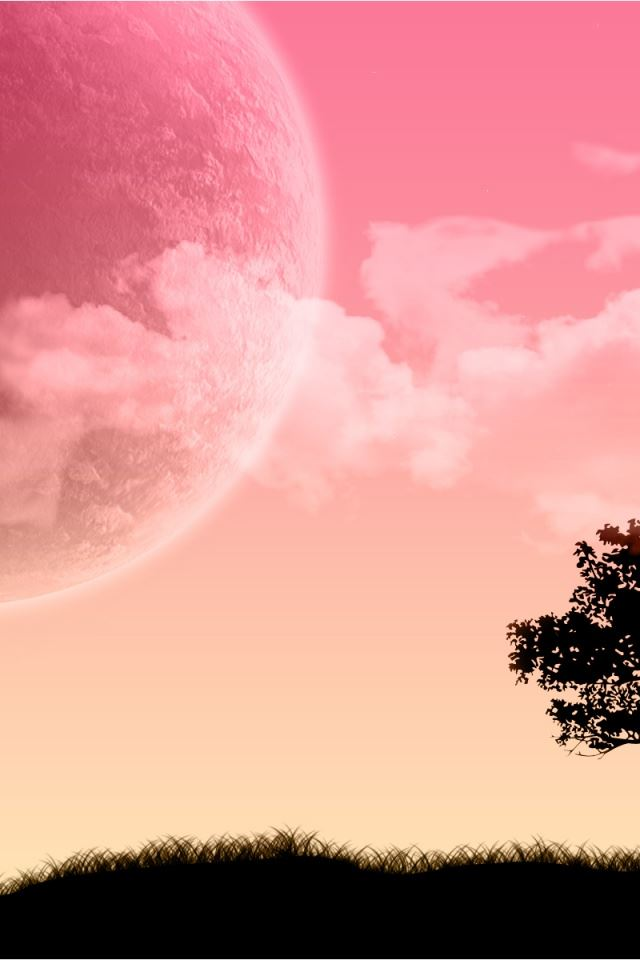 Pink Sky Scenery Iphone 4s Wallpapers Free Download