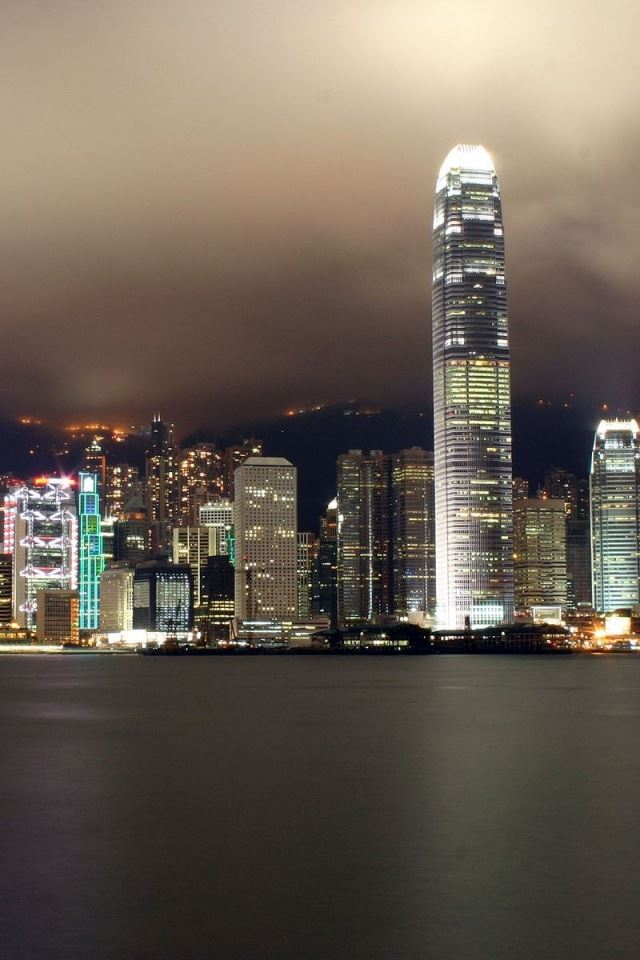 hong kong city scape iPhone 4s wallpaper