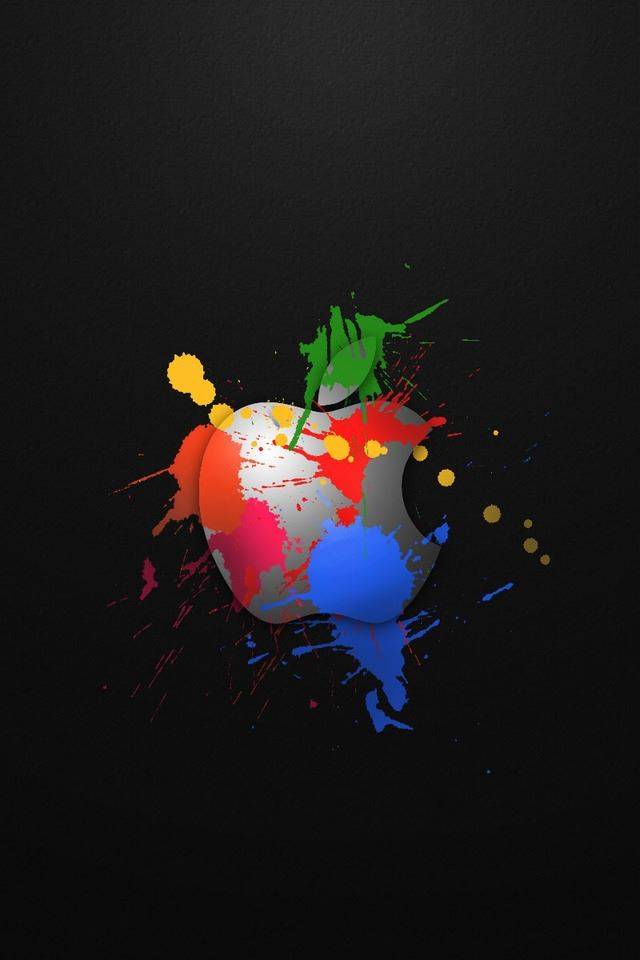 Apple In Colours iPhone 4s wallpaper