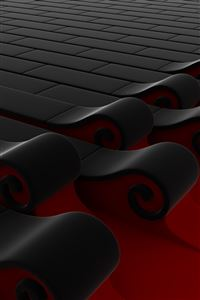 3D Waves iPhone 4s wallpaper