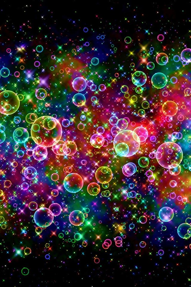 Colorful Bubbles iPhone 4s wallpaper