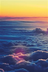 Sunrise Above The Clouds iPhone 4s wallpaper
