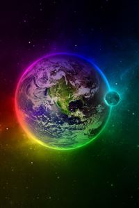 Colorful Earth iPhone 4s wallpaper